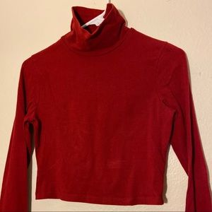 Forever 21 Long sleeve red crop top